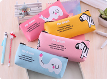 Sweet Plain Shape 4Designs , 18CM PU Elephant , Zebra PU Coin Gift BAG Case Pouch ; Pocket Coin Pouch Hand BAG Wallet(China)
