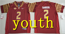Nike 2017 Youth Florida State Seminoles Deondre Francois 12 College Boxing Jersey - Red Dalvin Cook 4 Deion Sanders 2