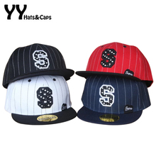 Kids Baseball Caps Stripe S Letter Embroidery Patch Sport Hip Hop Hat Cap Golf Hat Sunhats Snapback Children YY17053
