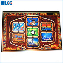 1pcs Multigame 7X Casino Game Board 7 in 1 Red Poker Games Slot Game PCB for Casino Machine(China)