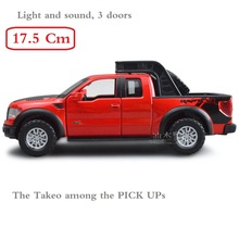 Alloy PICK UP Truck, Big size of 18CM, high quality Ford F150 metal model With light and music Drop Shipping