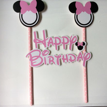 Chicinlife 1Set Mickey Minnie mouse Cake Cupcake Topper Picks kids birthday party decoration baby shower Party supplies