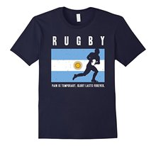 Argentina Rugby - Argentine Rugby GLORY LASTS FOREVER Tshirt Fashion Men and Woman T Shirt Free Shipping Short Sleeve(China)