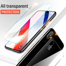 H&A 2Pcs Front+Back Cover Tempered Glass For iPhone X 8 7 6 Plus Screen Protector For iPhone 8 6 7 5 5s se Premium Glass Film(China)