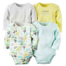 Bodysuit Jumpsuit 4pcs Pack Baby set kids Baby Boys and Girls Clothing set Bodysuit set for Bebes kids 2017 news soft Cotton(China)