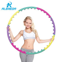 ALBREDA New arrival magnet fitness hula hoop massage hoops hula-hoop for children kid bodybuilding for women hoops Free shipping(China)