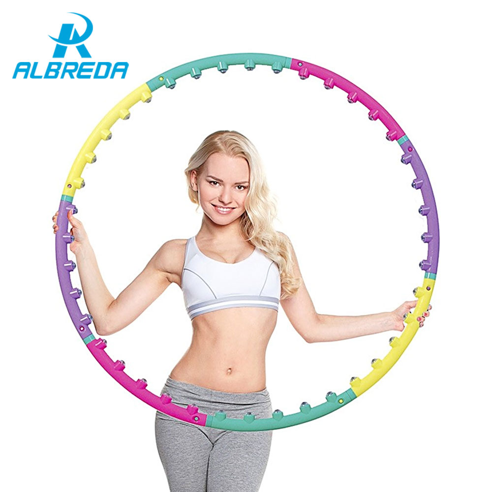 New arrival magnet fitness hula hoop massage hoops hula-hoop for children kid bodybuilding for women hoops Free shipping RO280(China (Mainland))
