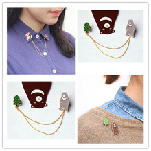 Free shipping The new fashion The exclusive grandma Wolf Young forest brooch collar pin sets