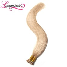 Brazilian PreBonded I Tip Hair Extensions Straight Stick Keratin Human Hair Extentions 100g(0.5g/strand) Honey Blond #27