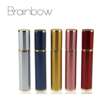 Brainbow 8ml Aluminum Empty Perfume Bottle Mini Portable Travel Refillable Perfume Atomizer Bottles For Spray Scent Pump Case(China)