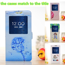 "Luxury Flip Cover For Alcatel One Touch Pixi 3 Pixi3 4.5"" 4027X 4027D Moblie Phone Cases PU Leather Case With Slim View Window"