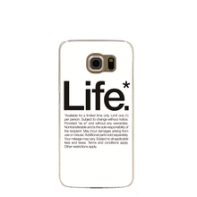 08055 black white life cell phone case cover for Samsung Galaxy S7 edge PLUS S6 S5 S4 S3 MINI
