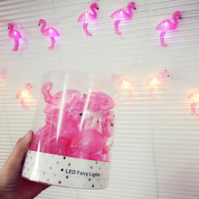 Buy 10 LED Pink Flamingo String LED Fairy Lights Lamp Bulbs String Battery Operated Indoor Party Supplies Wedding Baby Room Decor for $4.54 in AliExpress store