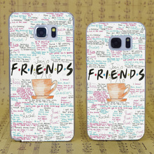 B1368 Friends Tv Show Quotes Poster Transparent Hard PC Case Cover For Samsung Galaxy S 3 4 5 6 7 Mini Edge Plus Note 3 4 5 7