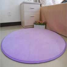 Coral Cashmere Round Carpets Floor Mat Carpet And Rug For Living Room Non-slip Door Carpet Mat Computer Chair Mats Alfombras(China)