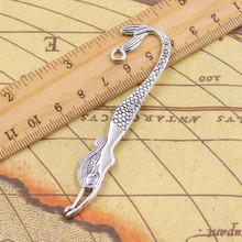 10pcs Charms double sided mermaid bookmarks 82mm Tibetan Silver Plated Pendants Antique Jewelry Making DIY Handmade Craft