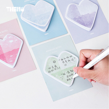 30 sheets/pcs Romantic Heart Memo Pads Nordic Style DIY Bookmark Post It Sticky Notes Scrapbook Self-stick Message Notes