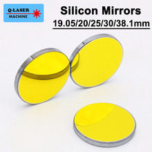 Silicon Laser Reflect Mirror 19.05 20 25 30 38.1mm Co2 Laser Mirrors For Engraving Cutting Machine(China)
