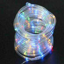 12M Solar Powered Rope Tube fairy String Light 100LED Outdoor Xmas Garden Christmas Wedding party Tree decor flexible Lamp(China)