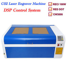 100W Co2 USB Laser Cutting Machine With DSP System Laser Cutter Engraver Chiller 1000 x 600 mm