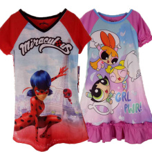 New Girls Miraculous Tales of Ladybug Graphic T-Shirt Powerpuff girls Sleepwear Costume Cat Noir Adrien Cosplay Shirt(China)