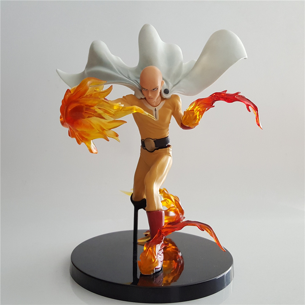 Anime Figure One Punch Man Saitama Sensei Collectible Toy DXF Action Figure Hero Red Effect Power PVC Model Doll for Children