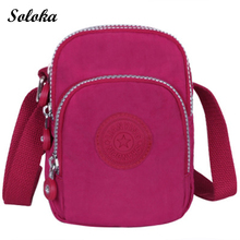 Fashion Casual Women Shoulder Bags Nylon Messenger Bags Female Handbags Small Crossbody Bags Cellphone Coins Bags