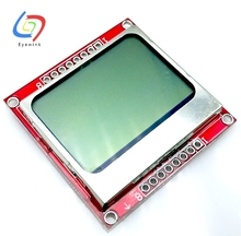 EYEWINK 10pcs/lot 84X48 Nokia 5110 LCD Module with backlight adapter PCB Free Shipping Dropshipping