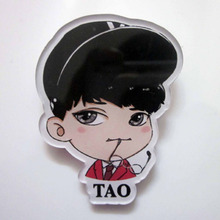 EXO 12 Members Brooch CHEN.SUHO.KAI.LUHAN.XIUMIN.BAEKHYUN Popular Super Star EXO Acrylic Brooch Cartoon Popular Badge