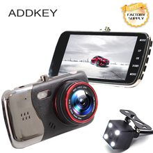 2017 New 4.0 inches Dual lens Car DVR Camera Full HD 1080P Auto Dash Cam Video Recorder With LED Night Vision Rear View Cameras