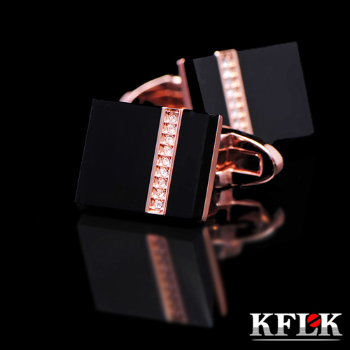 Kflk Deluxe 2017 shirts Cufflinks brand men's Cufflinks Gift rose gold Cufflinks and high quality abotoadura crystal jewelry(China (Mainland))