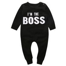 HOT Fashion Rompers Newborn Letter Print Jumpsuit Infant Baby Boys Girl Long Sleeve Outfits Baby Unisex Jumper Jumpsuit Sunsuit