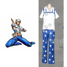 2016 JoJo's Bizarre Adventure Steel Ball Run Gyro Zeppeli Cosplay Costume(China)