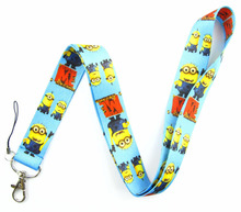 Lot 10Pcs Popular Despicable Me Cartoon Mobile Cell Phone Lanyard Neck Straps Party Gifts A154