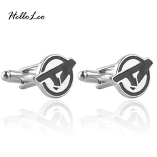 The Avenger Logo Initial Men's Jewelry Cufflinks French Shirt Wedding Business Best Gift for Man Shirt Cuff Links(China)