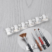 1Pc Nail Tool Rack Nail Brush Stand Clear Acrylic Holder Display Stand Rest for 5 Nail Art Pens