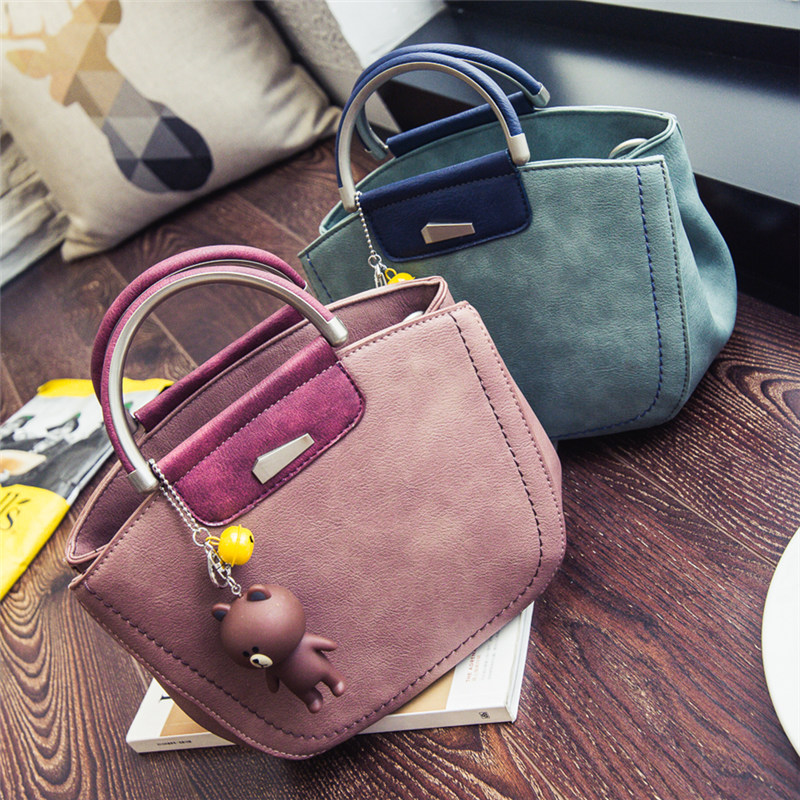 New 2017 Famous Brand Design PU Leather Vintage Bag Women Handbag Crossbag Bag Fashion High Quality Ladies Handbag Tote Bags<br>