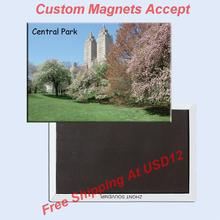 USA Travel Magnets Gifts NY Central Park Picture Metal Wrapped Magnet 20001;Customized artworks accept(Hong Kong)