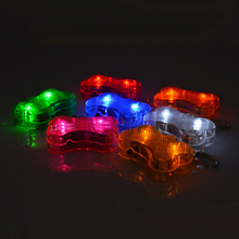 Pet Dog Bone Charms Accessories Led Light Hooked On Dog Collar Pet Dog Cat Identity Address Card Marking Tool Pet Products