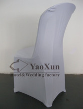 White Color Spandex Chair Cover Used For Plastic Chair