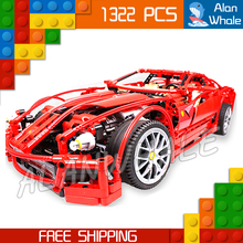 1322pcs 3333 Technic Formula Racing Car Racers 1:10 scale 599 GTB Model Building Blocks Educational DIY Toy Compatible With lego