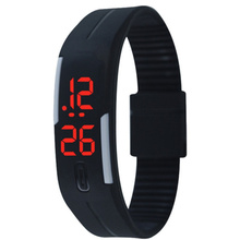 2017 Silicone Led Sports Watches Men Women Dress Children Electronic LED Digital Watch Man Ladies Morning Running Sport Watch(China)
