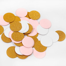 FENGRISE Gold Round Confetti Wedding Decoration Party Table Pink Heart Baby Shower Confetti White Star Birthday Party Supplies