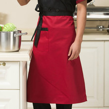 New Delicate Kitchen Restaurant Cooking Apron Solid Color Half Apron Chef Waiter Kitchen Cook Clothing 18