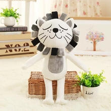 2016NEW 40CM Kawaii Lion &Cat Plush Toys Stuffed Animals Fluffy Cat Dolls Soft Kids Toys Children Gifts Christmas Gifts(China)