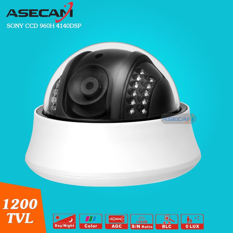 Home NEW Sony CCD 960H Effio 1200TVL CCTV indoor Black Dome Analog Surveillance 24 infrared night vision Security Camera <br>
