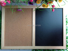 Free accessories nature combination cork board blackboard kitchen office supplier 60*90cm factory direct sell home decorative