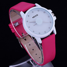 Kezzi Brand Women's Ultra Slim Watches Big Small Harajuku Ladies Leather Dress Watch Couple Wrist Watch Student Montre Femme(China)