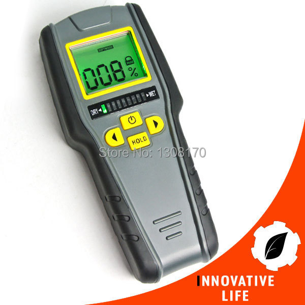 4-in-1 Non-Invasive Inductive Moisture Digital Meter for Drywall Masonry Softwood and Hardwood<br>