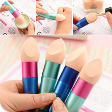Multi Colors Liquid Cream Foundation Concealer Sponge Lollipop Brush Women Cosmetic Make Up Brushes Beauty Tools Supply 2017